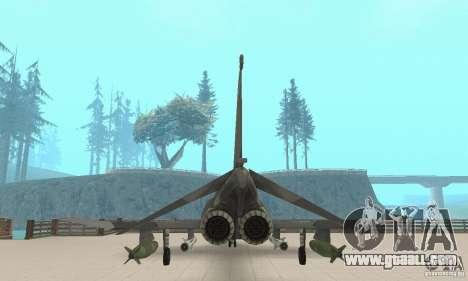 F-4E Phantom II for GTA San Andreas back view