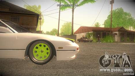 Nissan 180SX JDM for GTA San Andreas upper view