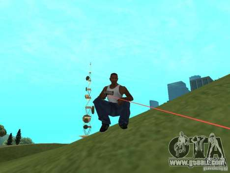 Laser Weapon Pack for GTA San Andreas second screenshot