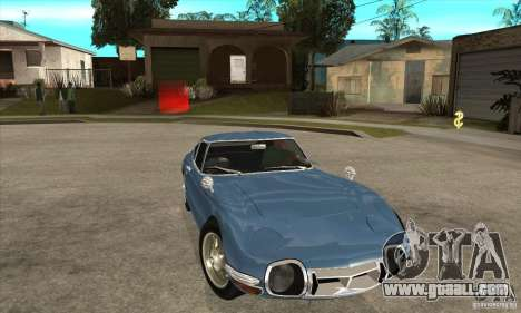 Toyota 2000GT for GTA San Andreas back view