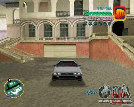 DeLorean DMC 12 for GTA Vice City back view