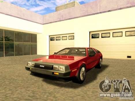 DeLorean DMC-12 V8 for GTA San Andreas