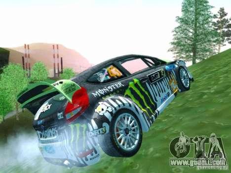Ford Fiesta Ken Block Dirt 3 for GTA San Andreas inner view