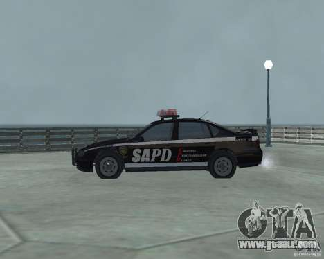 Cop Car Chevrolet for GTA San Andreas left view