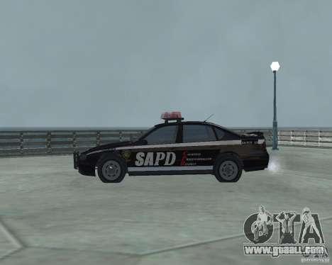 Cop Car Chevrolet for GTA San Andreas left view