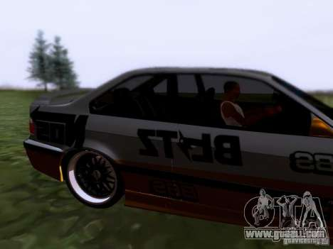 BMW E36 Drift for GTA San Andreas back left view
