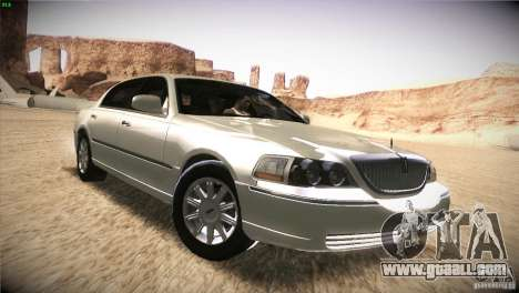 Lincoln Towncar 2010 for GTA San Andreas inner view