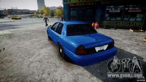 Ford Crown Victoria Detective v4.7 [ELS] for GTA 4 back left view