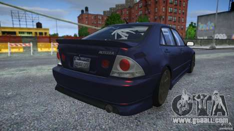 Toyota Altezza for GTA 4 back view
