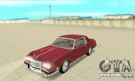 Pontiac Grand Prix 1985 for GTA San Andreas