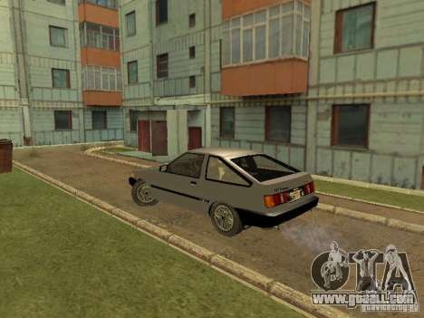 Toyota Corolla AE85 Levin GT-Apex for GTA San Andreas right view