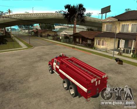 ZIL 133GÂ AC fire for GTA San Andreas left view