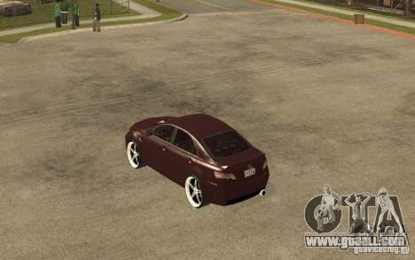 Toyota Camry 2010 for GTA San Andreas back left view