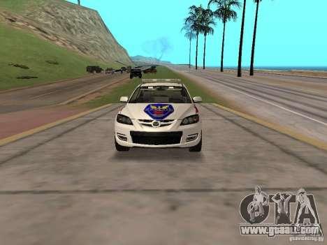 Mazda 3 Police for GTA San Andreas back view