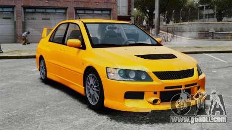 Mitsubishi Lancer Evolution IX MR for GTA 4