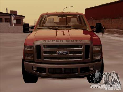 Ford  F350 Super Duty for GTA San Andreas left view