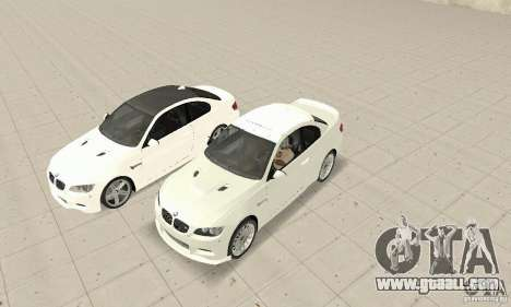 BMW M3 2008 for GTA San Andreas left view