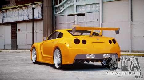 Nissan Skyline R35 GTR for GTA 4 back left view