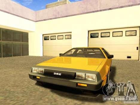 DeLorean DMC-12 V8 for GTA San Andreas side view