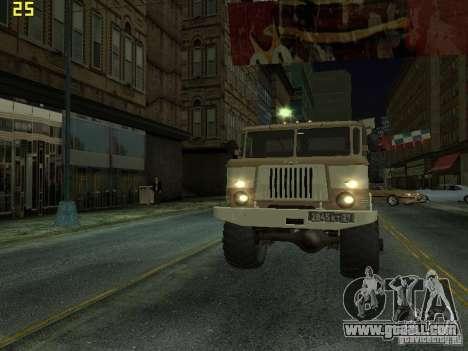 GAZ 66 Parade for GTA San Andreas inner view