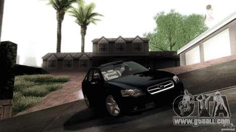 Subaru Legacy B4 3.0R specB for GTA San Andreas inner view