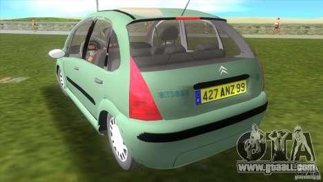 Citroen C3 for GTA Vice City left view