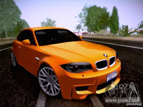 BMW 1M E82 Coupe for GTA San Andreas back left view