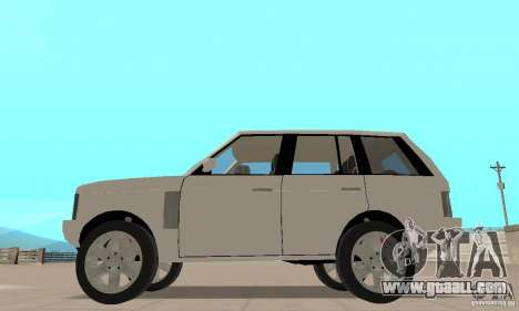 Range Rover Vogue 2003 for GTA San Andreas back left view