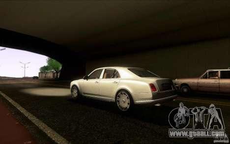 Bentley Mulsanne 2010 v1.0 for GTA San Andreas back left view