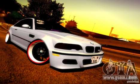 BMW M3 JDM Tuning for GTA San Andreas left view