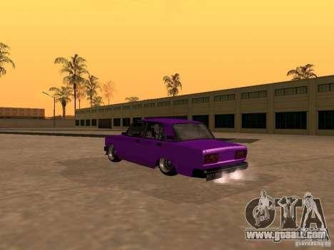 VAZ 2107 JDM for GTA San Andreas inner view