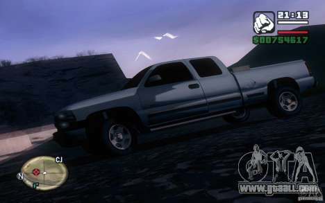 Chevrolet Silverado 2000 for GTA San Andreas left view