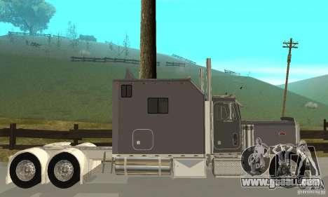 Peterbilt 379 Custom Legacy for GTA San Andreas back left view