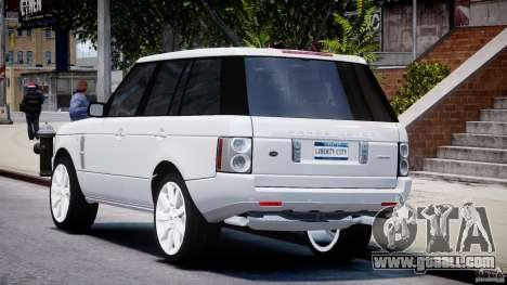 Range Rover Supercharged 2009 v2.0 for GTA 4 back left view