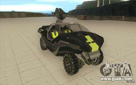 Halo Warthog for GTA San Andreas right view
