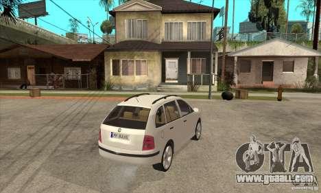 Skoda Fabia Combi for GTA San Andreas right view