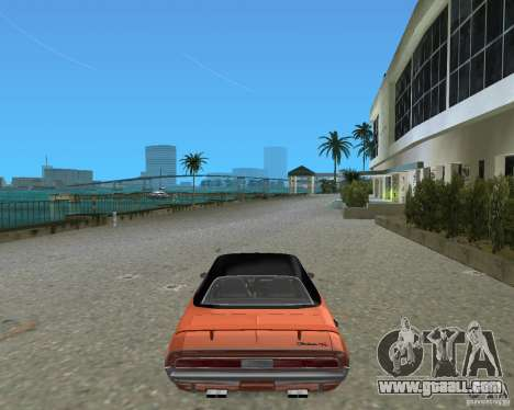 1970 Dodge Challenger R/T Hemi for GTA Vice City back left view