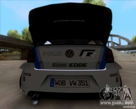 Volkswagen Polo WRC for GTA San Andreas right view