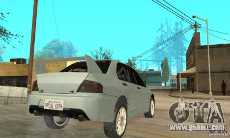 Mitsubishi Lancer Evolution IX for GTA San Andreas right view