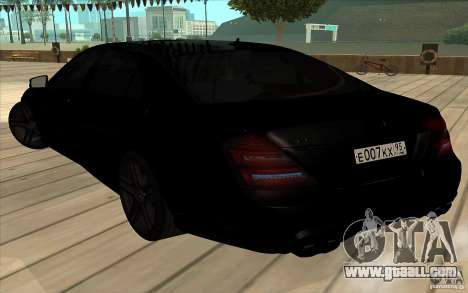 Mercedes-Benz S65 AMG with flashing lights for GTA San Andreas side view