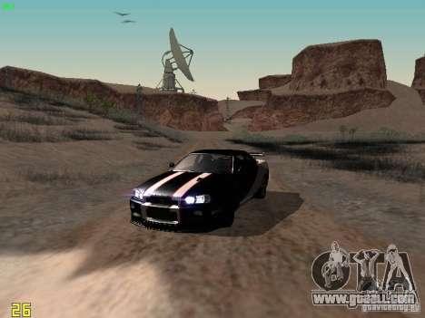 Nissan Skyline GT-R R34 V-Spec for GTA San Andreas side view