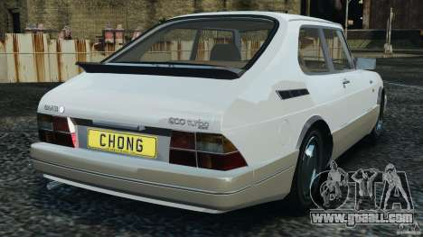 Saab 900 Coupe Turbo for GTA 4 back left view