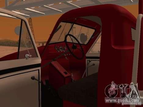 GAZ-51 ALG-17 for GTA San Andreas inner view