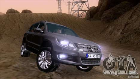 Volkswagen Tiguan 2012 for GTA San Andreas side view