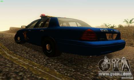Ford Crown Victoria Michigan Police for GTA San Andreas left view