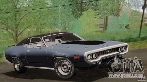 Plymouth GTX 426 HEMI 1971 for GTA San Andreas back view