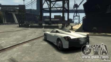 Pagani Huayra for GTA 4 right view