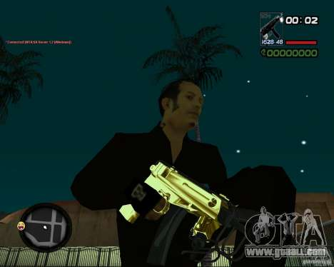 Tec 9 GOLD for GTA San Andreas