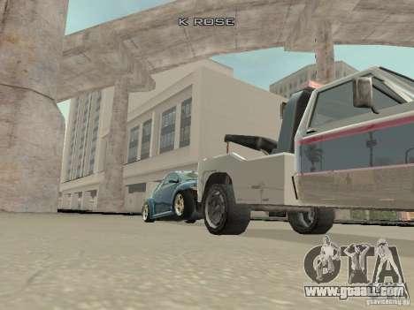 VW Beetle 2004 for GTA San Andreas inner view