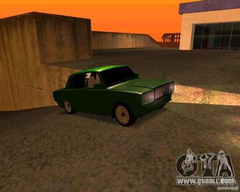 VAZ 2107 Hobo v. 1 for GTA San Andreas right view